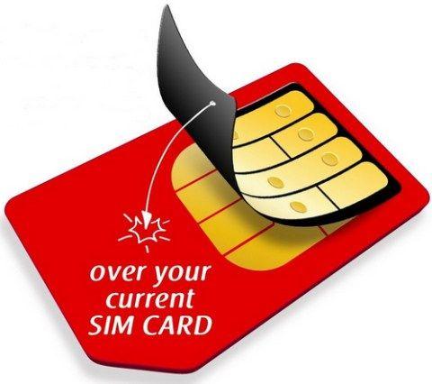 BiBiTel SIM Skin - stick on SIM card converts your existing SIM to cheap calls