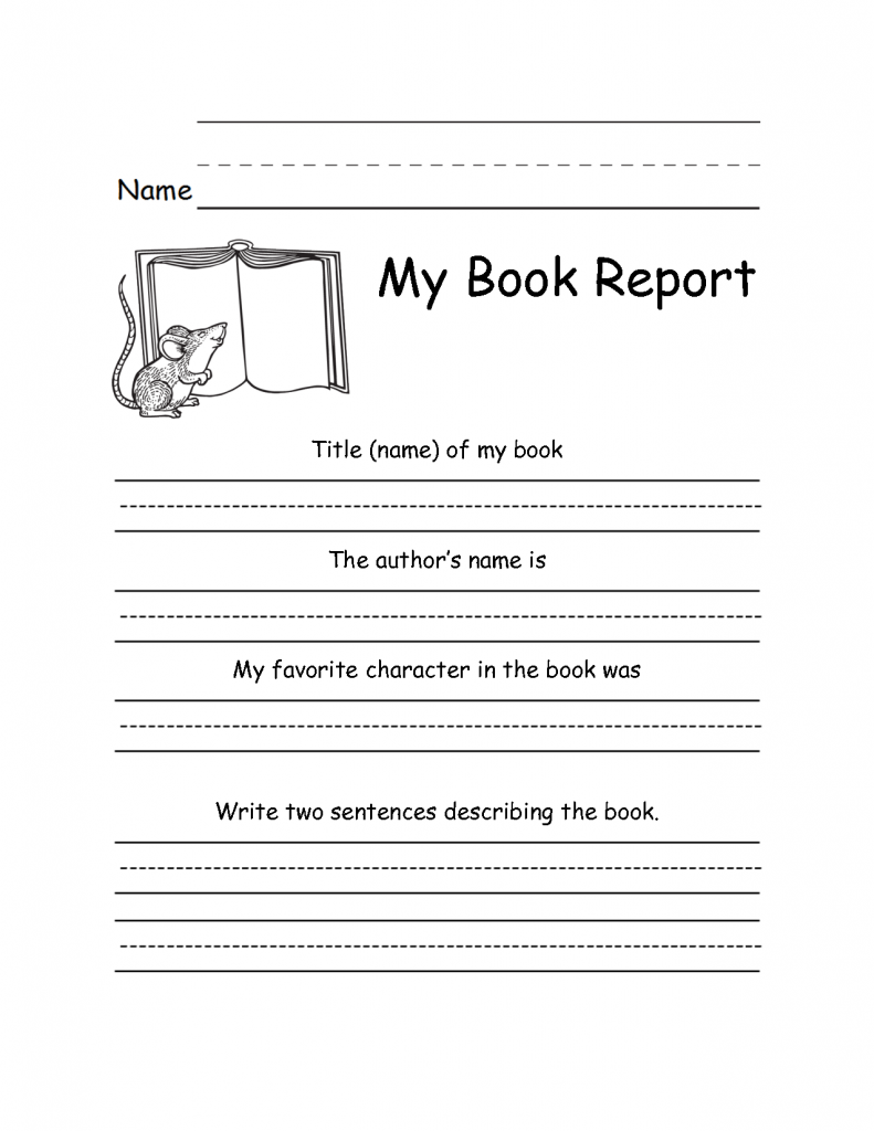 2nd Grade Writing Worksheets - Best Coloring Pages For Kids   Kindergarten book  report [ 1024 x 791 Pixel ]