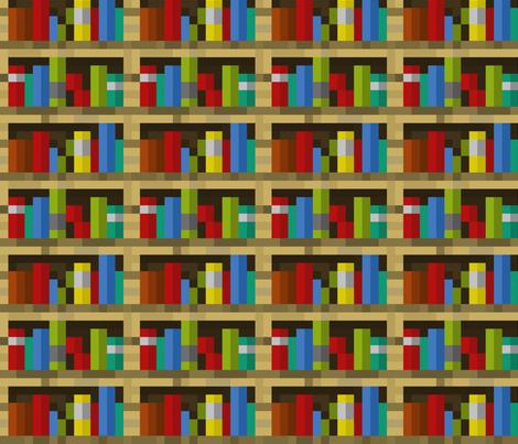 Minecraft Bookshelves Large Fabric By Elsielevelsup On