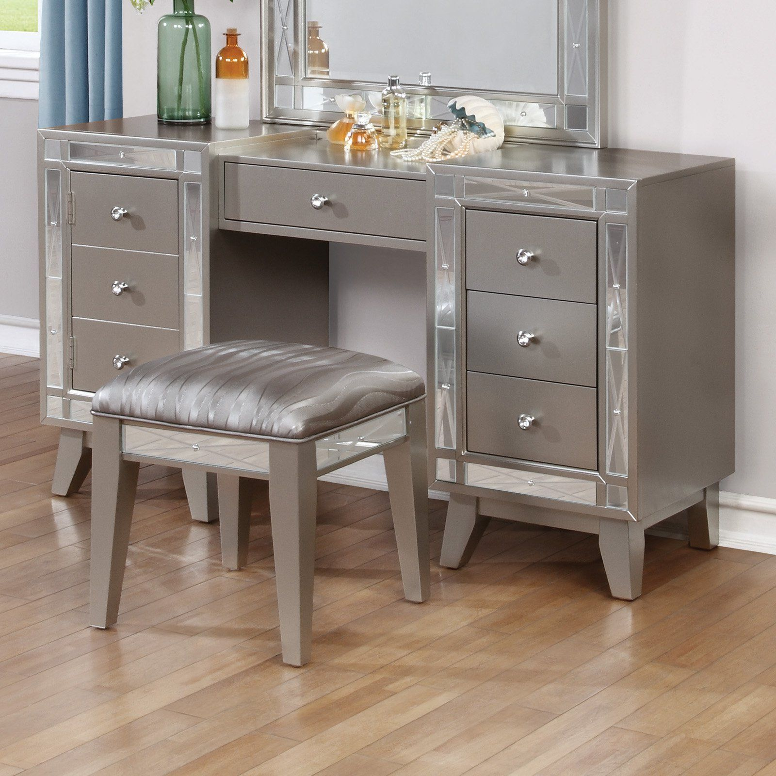 Remarkable Coaster Furniture Leighton Vanity Desk And Stool With Gmtry Best Dining Table And Chair Ideas Images Gmtryco