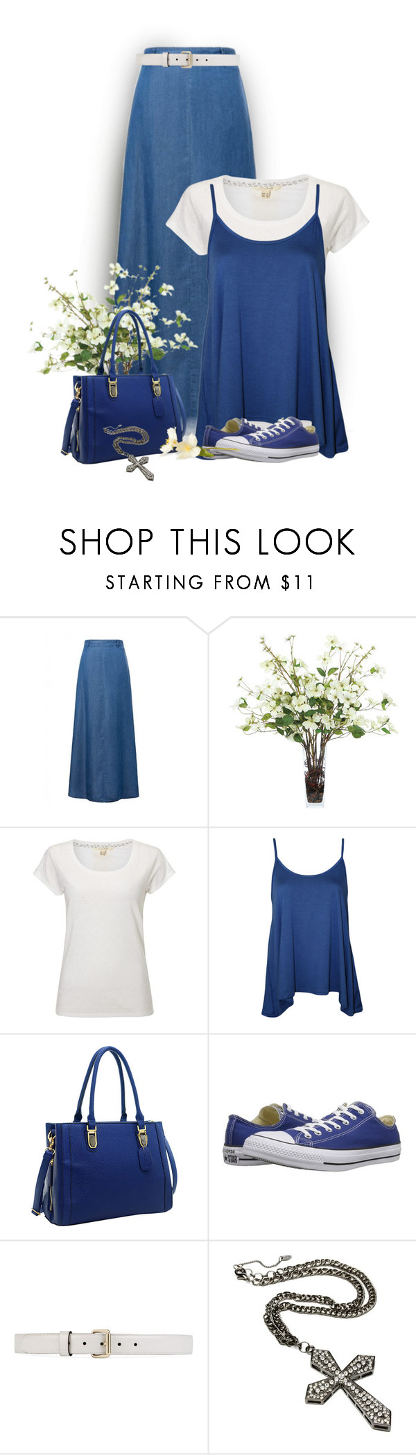 """Untitled #1073"" by tinkertot ❤ liked on Polyvore featuring Trilogy, WithChic, Lux-Art Silks, White Stuff, WearAll, Dasein, Converse, Gucci and Amrita Singh"
