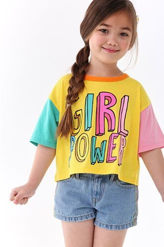 Girls' Graphic Tees | Forever 21 | Kids outfits, Kids graphic tees, Kids  fashion diy