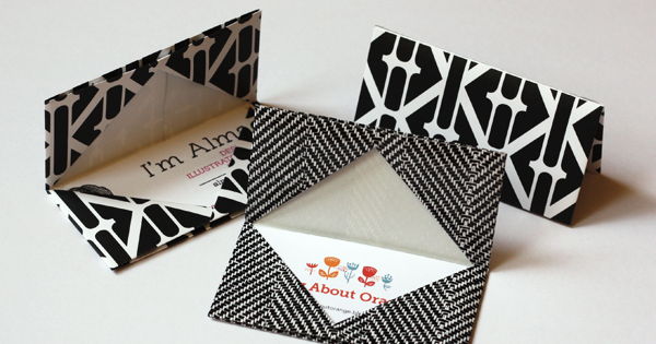 Diy oragami business card holder use paper or oilcloth for a more diy oragami business card holder use paper or oilcloth for a more durable one reheart Choice Image