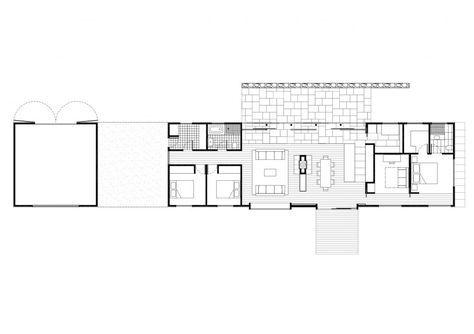 Trentham Long House Plan Jpg 1024 723 House Floor Plans Long House Narrow House Plans