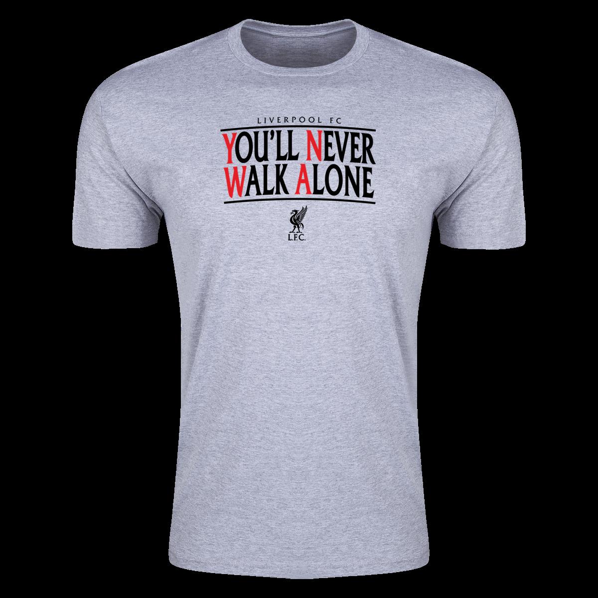 You/'ll Never Walk Alone T-shirt Liverpool Fan Club Adult /& Kids Tee Top