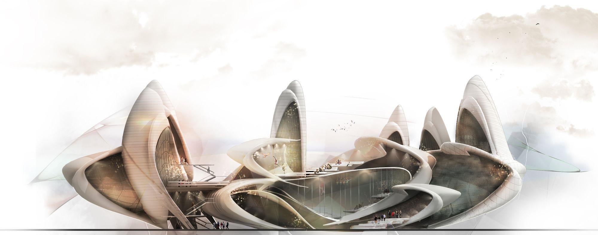 A equipe de arquitetos Maryam Fazel e Belinda Ercan, do Irã e da Alemanha, respectivamente, venceu o concurso para o projeto da Escola de Circo de...