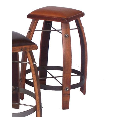 Pine 32 Inch Stool With Tan Leather Seat Bar Height 28 To 36 Inch Bar Stools Kitchen