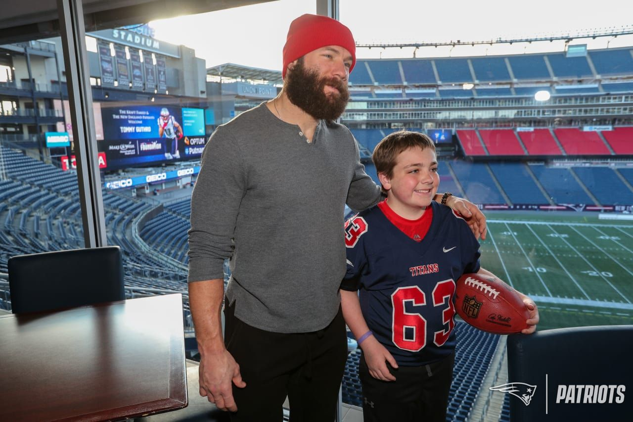 Tommy A Nine Year Old From Pembroke Mass Had His Wish Come True When He Met Patriots Wr Julian Edelman At Gillette S Julian Edelman Edelman Jersey Patriots