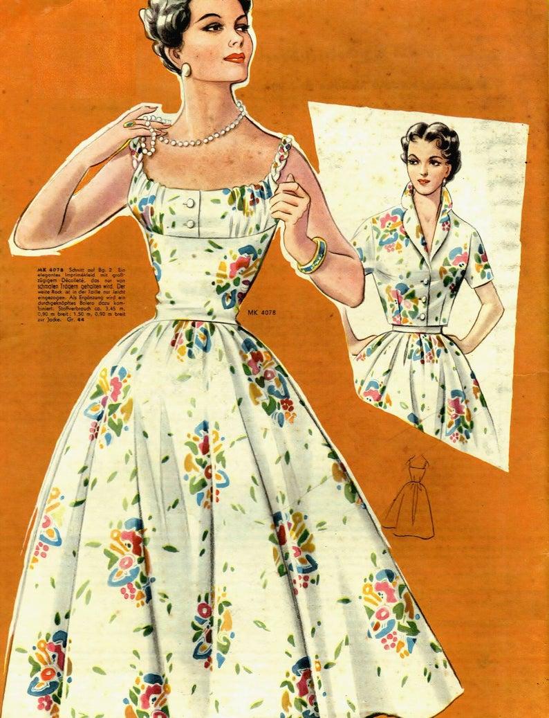 Vintage 98cm 38 6bust Size 1950s Sleeveless Summer Dress Etsy Sleeveless Dress Summer Vintage Summer Dresses Vintage Dress Patterns 1950s [ 1037 x 794 Pixel ]