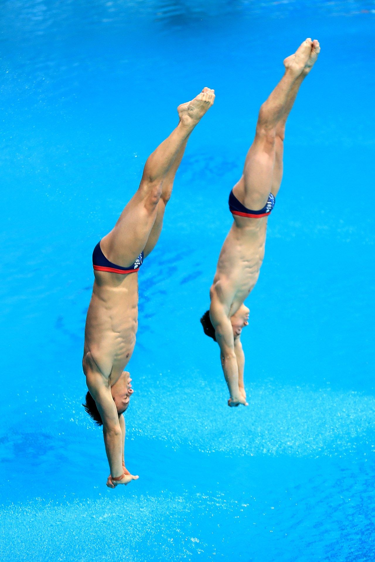 Tom Daley Diving Into Water