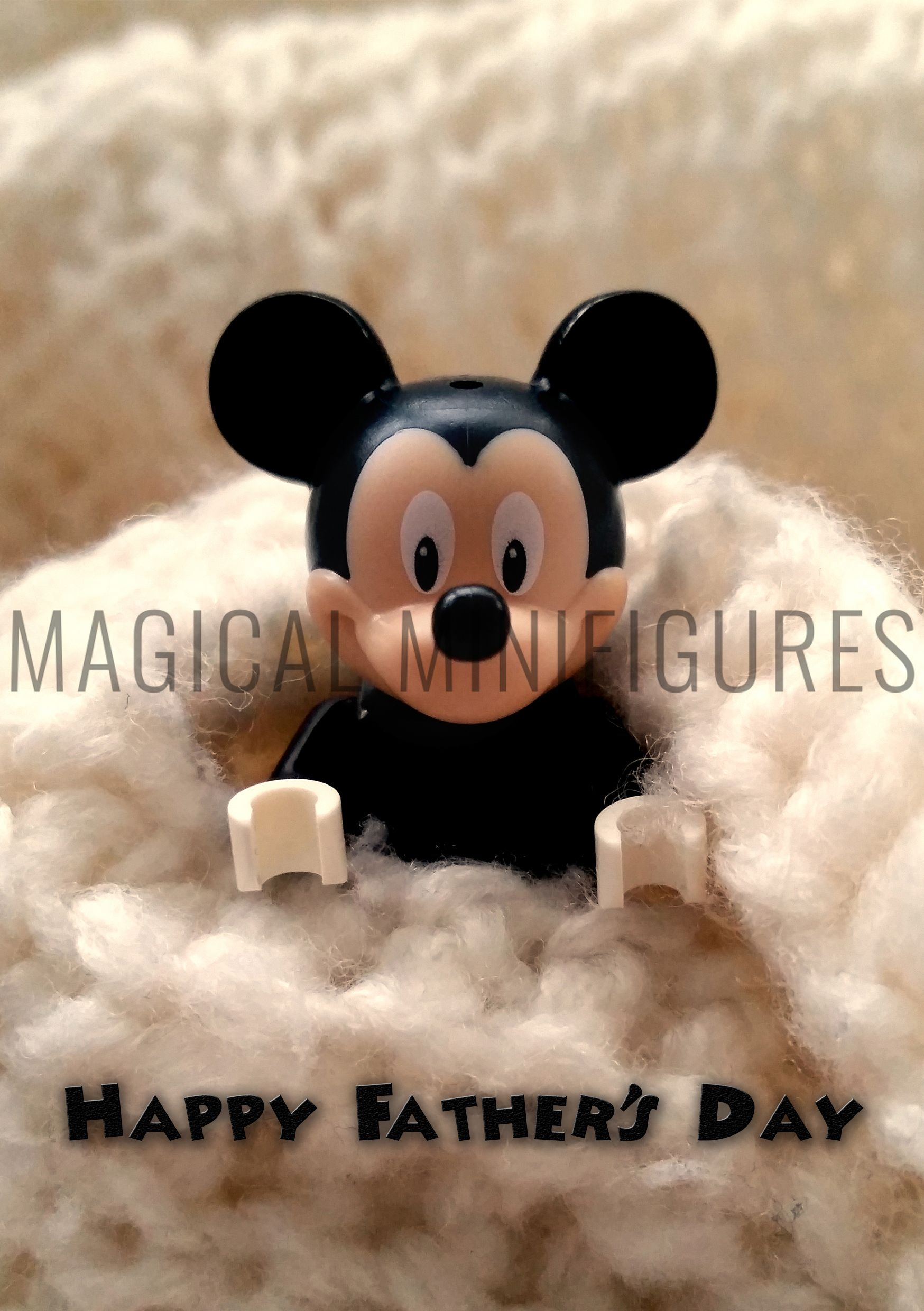 Lego Minifigure Disney Mickey Mouse Personalised Fathers Day Card