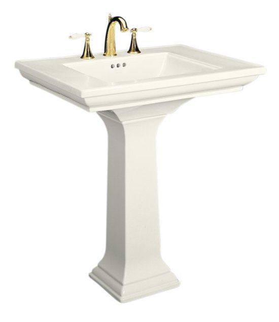 Bath Pedestal Sink Kohler Has Room To Set Things Around The Edge