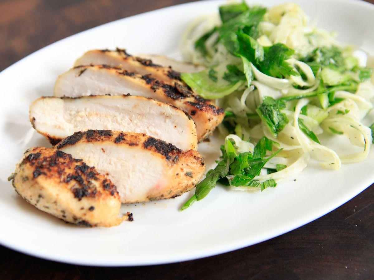 Lemon pepper cured chicken with fennel salad receta lemon pepper cured chicken with fennel salad forumfinder Images
