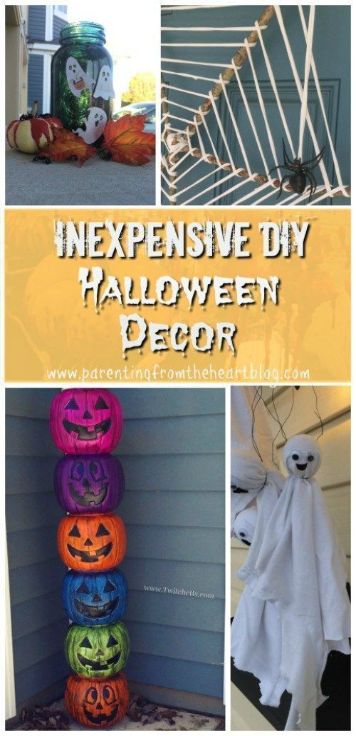 Inexpensive and Easy DIY Halloween Decor Spooky Halloween Fun - cheap easy diy halloween decorations