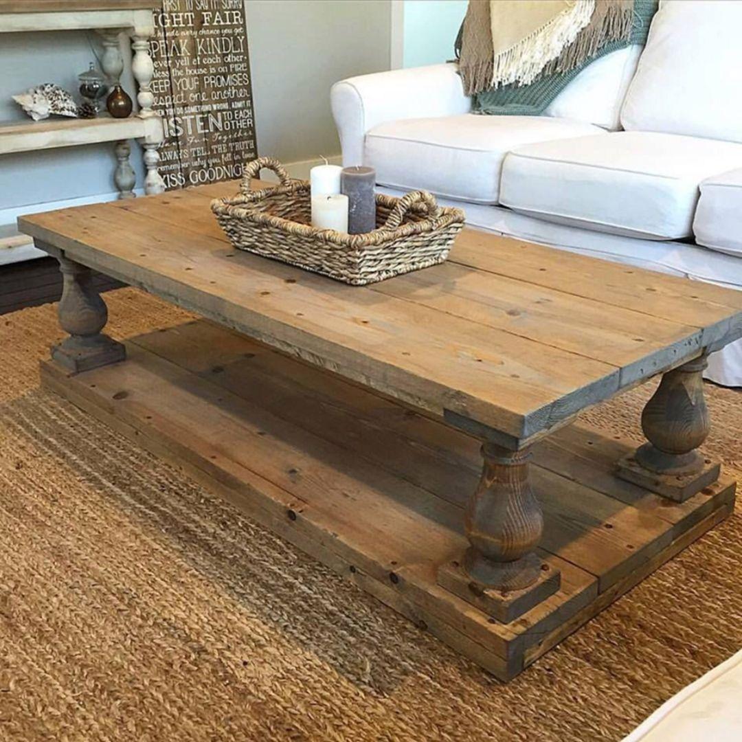 big square farmhouse coffee table