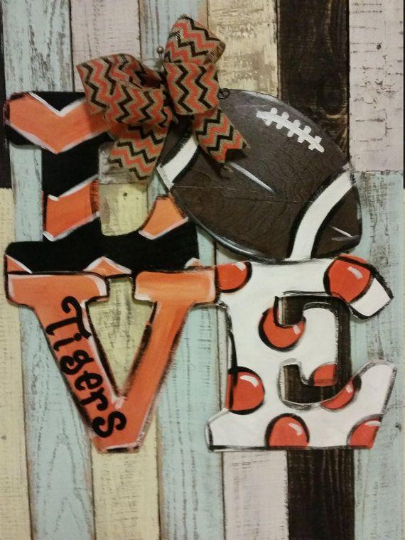 Football Door Hanger By Fischfynndesigns On Etsy