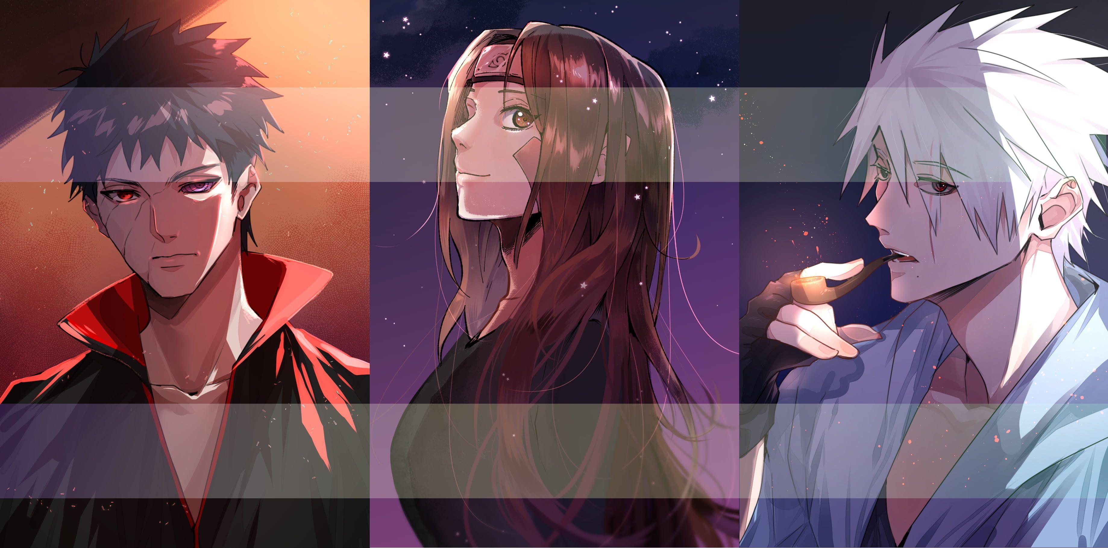 Naruto Kakashi Hatake Obito Uchiha Rin Nohara 2k Wallpaper Hdwallpaper Desktop In 2021 Dark Art Illustrations Naruto Shippuden Anime Anime