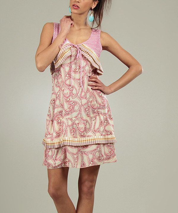 a315e8f472c Take a look at this Fuchsia Paisley Pleated Strapless Dress on zulily  today! Summer DressesWomen s ...