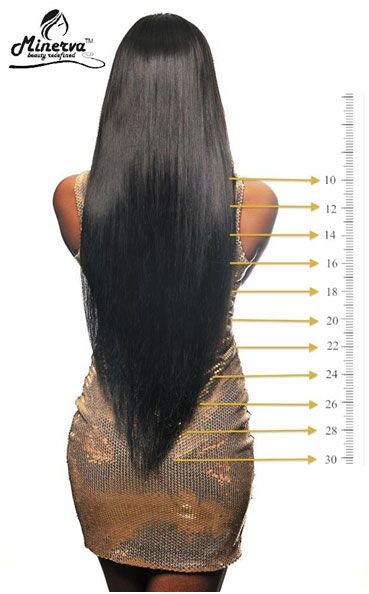 Hair length chart also makeup  envies extensions rh pinterest