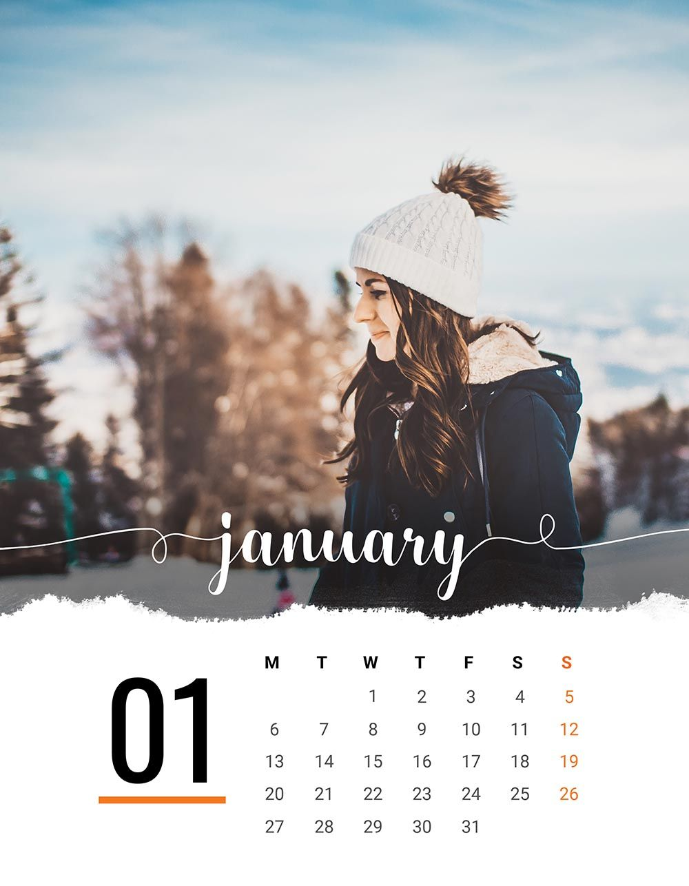 2020 Printable Calendar Template Add Your Own Photos Editable