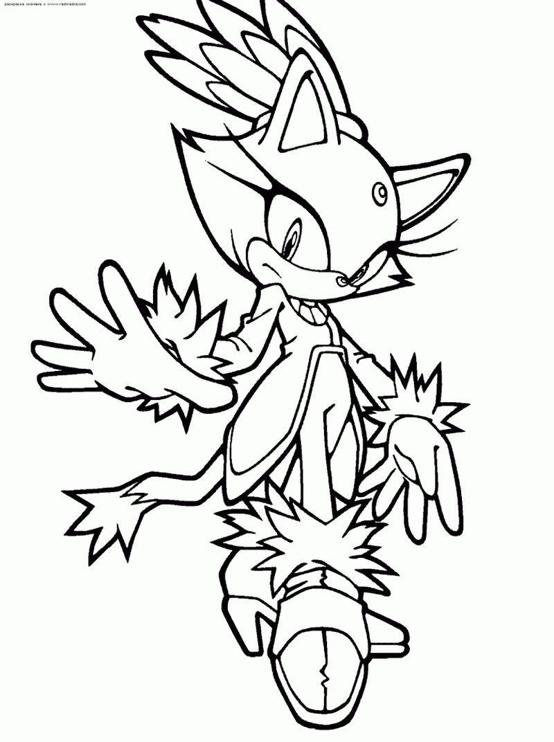 Sonic Coloring Pages For Kids Kolorowanki