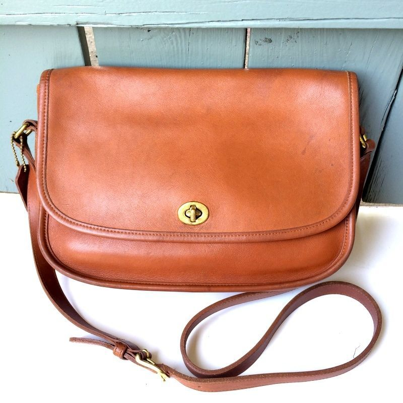 3161c74c2 Vintage Coach British Tan Leather Classic City Saddle Bag Crossbody Coach  9790 #Coach #Vintage