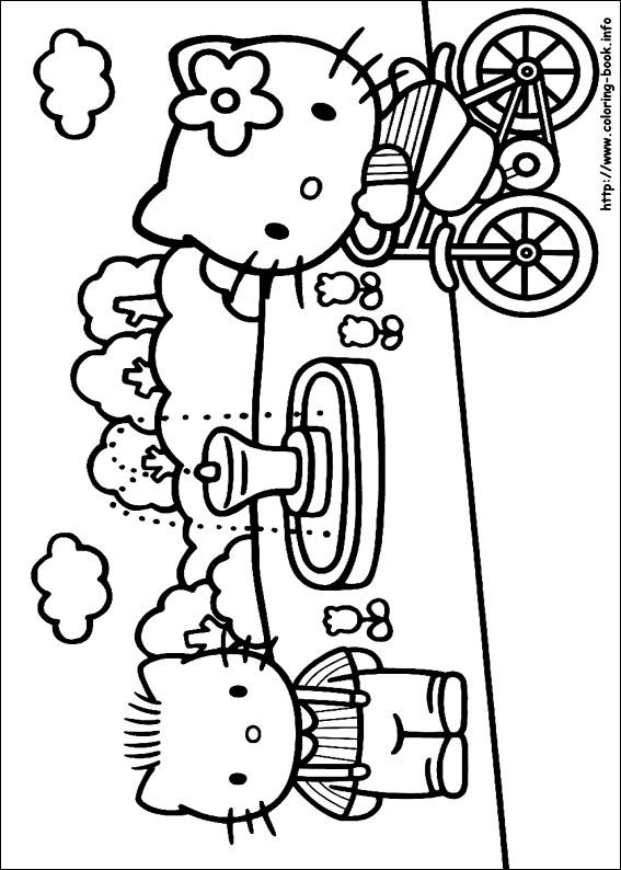 Hello Kitty coloring picture  for the kids  Pinterest  Hello