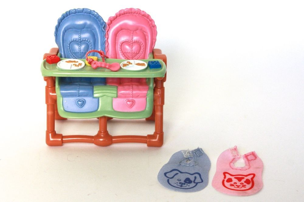 Fisher price loving family dollhouse twin highchair with attached toy fisher price publicscrutiny Images