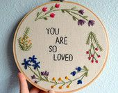 You Belong Among the Wildflowers Embroidery Hoop Art, Wildflowers Sign, Tom Petty Lyrics, Wall Hanging, Needlepoint Quote by BreezebotPunch