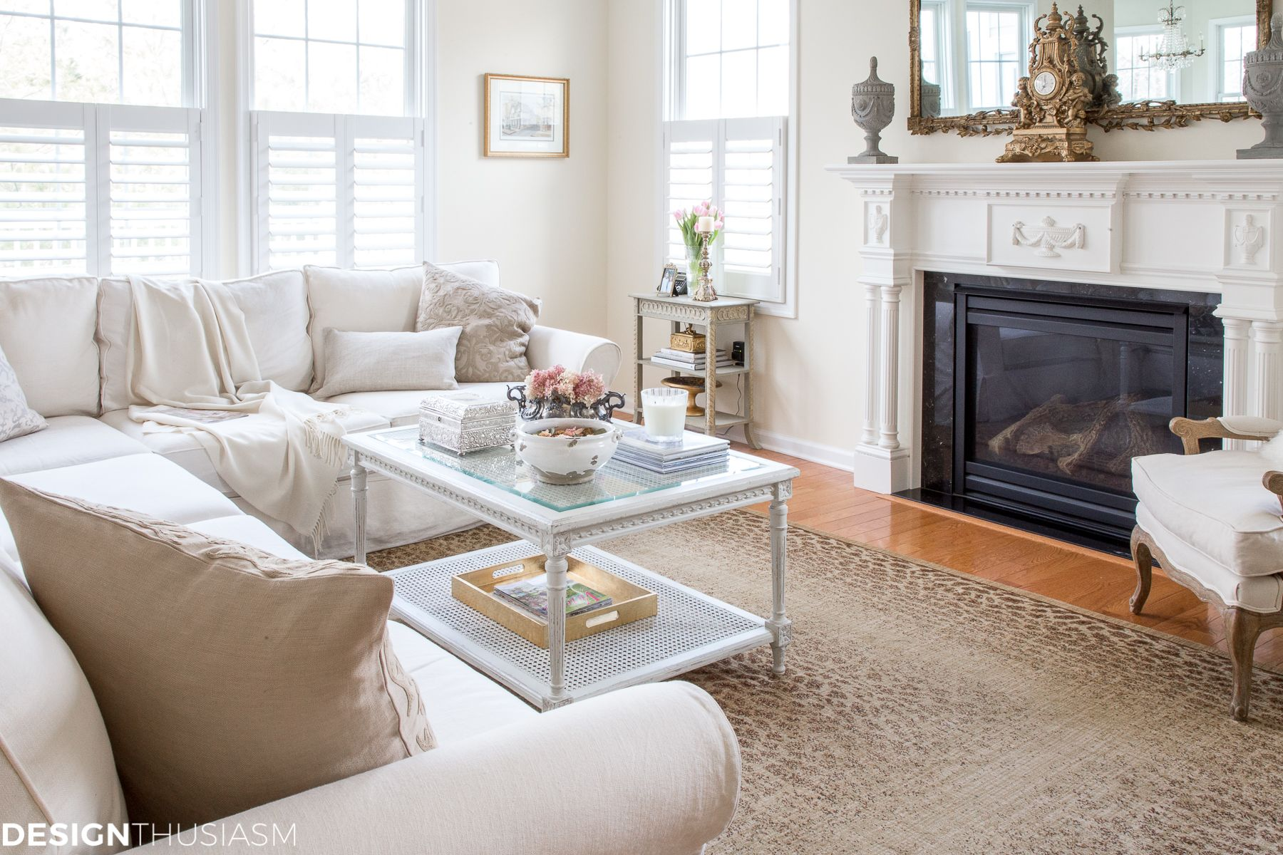 Simple Changes For A Functional Casually Elegant Family Room