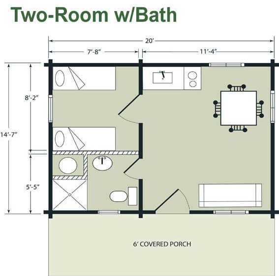 14 X 40 Floor Plans With Loft Boulder Lodge 14 7 X 20 Cabin Floor Plans House Floor Plans House Plans