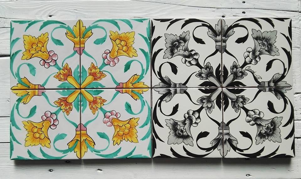 Maioliche dipinte a mano comed ceramiche maiolica for Maioliche adesive