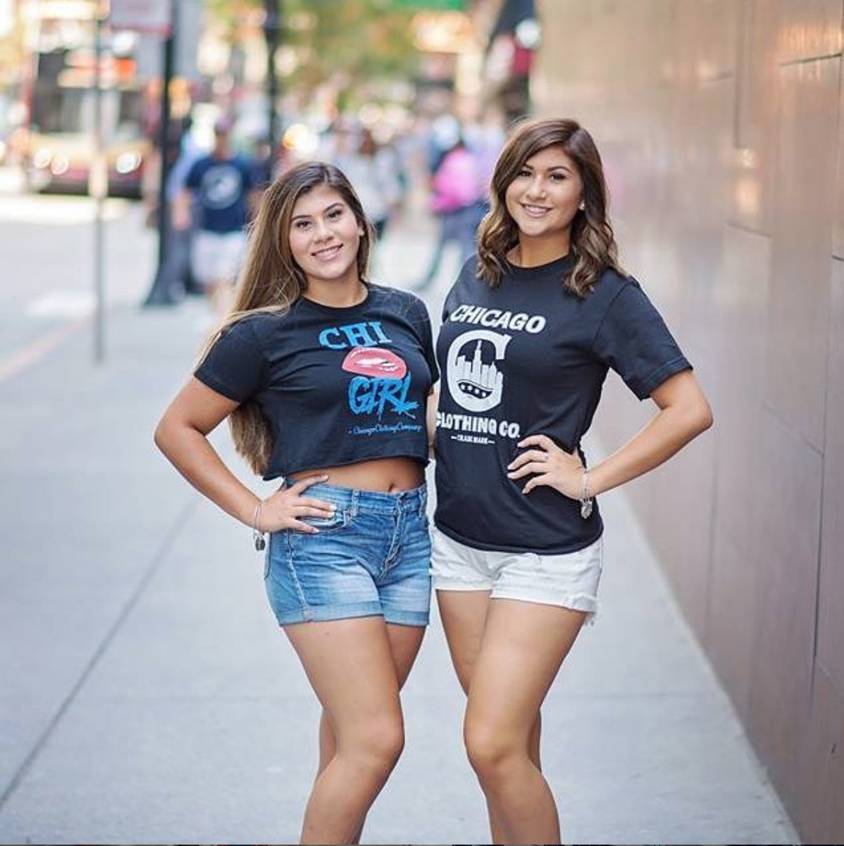 Chicago Double Trouble! Go to the website to receive discounts on shirts! @chicagoclothingcompany #chicago #chigram #chicity #chicagogram #chi #chitown #fashion #style #amazing #like love #share #follow #beautiful #girl #chigirls
