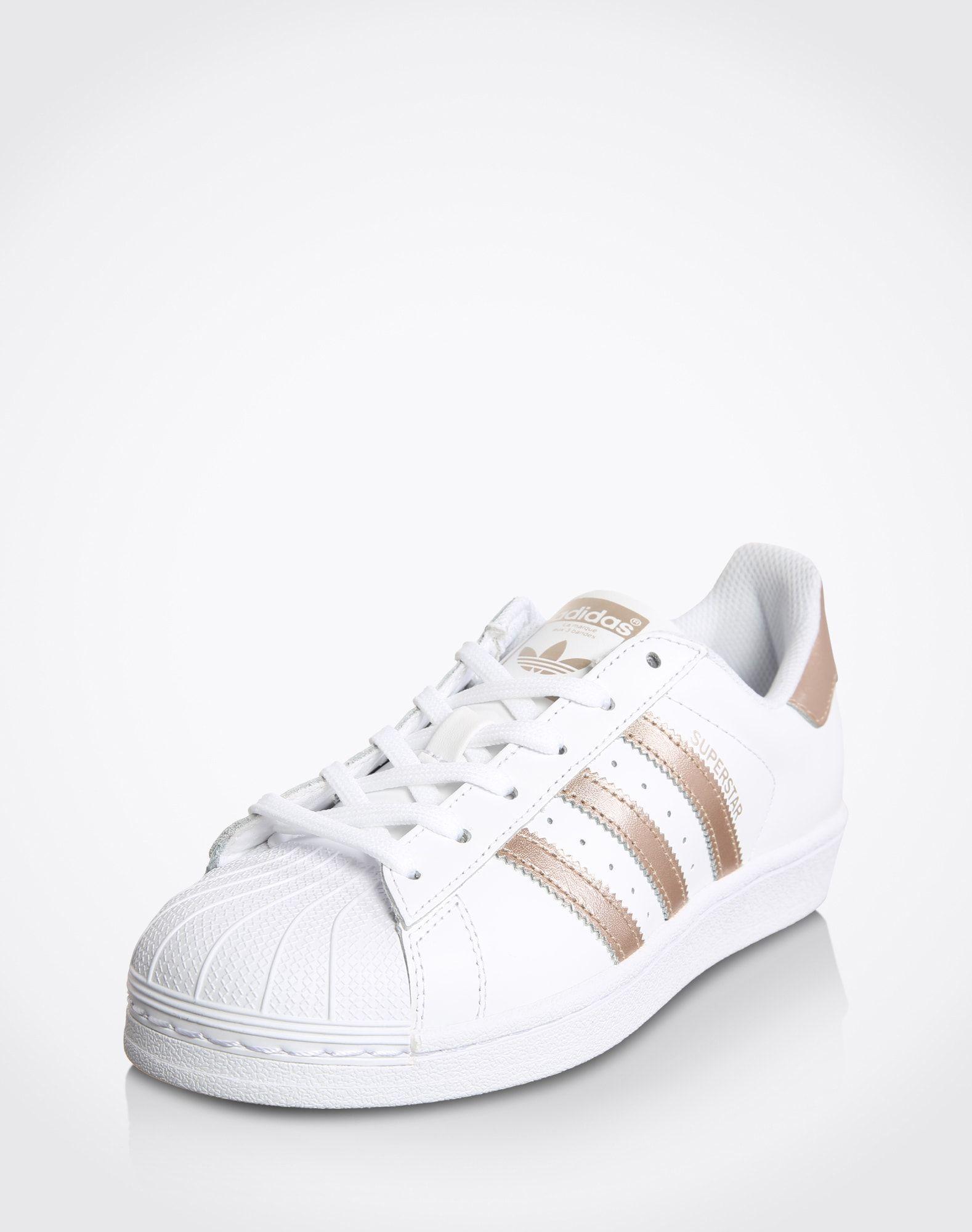 ADIDAS ORIGINALS Sneaker 'Superstar' Damen, Weiß / Gold ...