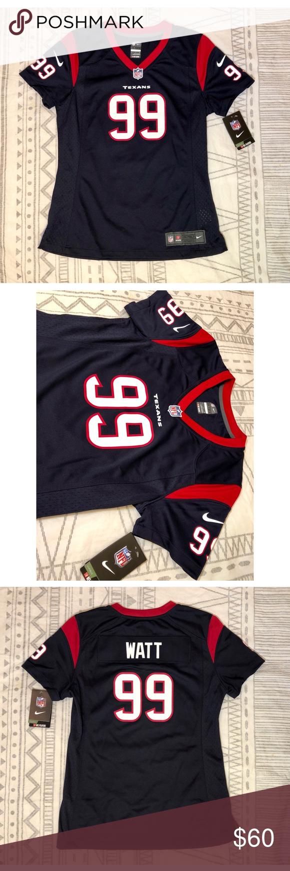 17755cff5 Houston Texans JJ Watt 99 NFL Navy blue Jersey NWT BRAND NEW WITH TAGS! Women's  Houston Texans JJ Watt Nike Navy Blue Game Jersey Nike Tops