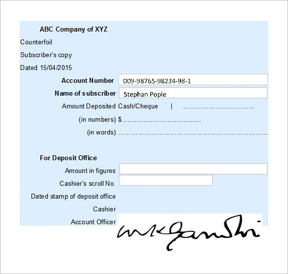 Free Receipt Template , Receipt Template Doc for Word Documents in - cash cheque receipt format
