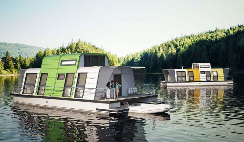 Une maison flottante en kit à construire soi-même en 4 jours seulement