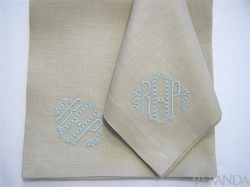 our story resources monograms pinterest - Linen Monogrammed Napkins