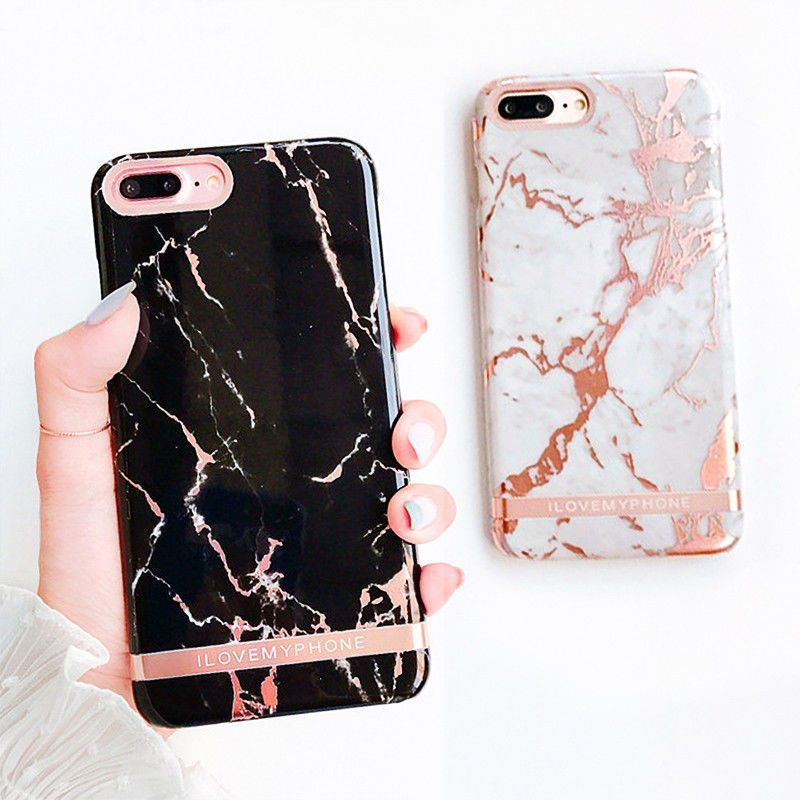 info for eced3 77801 Luxury Marble Gold Bar Protertive Hard Cover Phone Case for iphone 8 ...