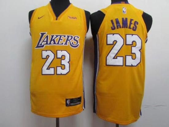 04d738f22e4 2019 Los Angeles Lakers LeBron James  basketball Jerseys City Edition All  Stitched