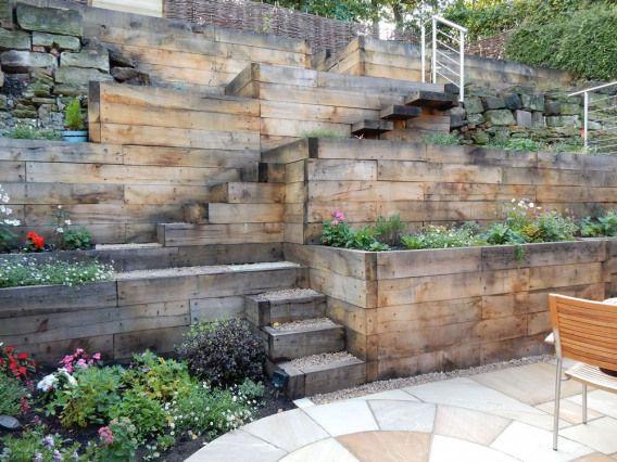 Steep Slope Home Designs Steep Slope Garden Designs Garden Designer Staffordshire Gardendesign Sloped Garden Steep Gardens Landscaping A Slope