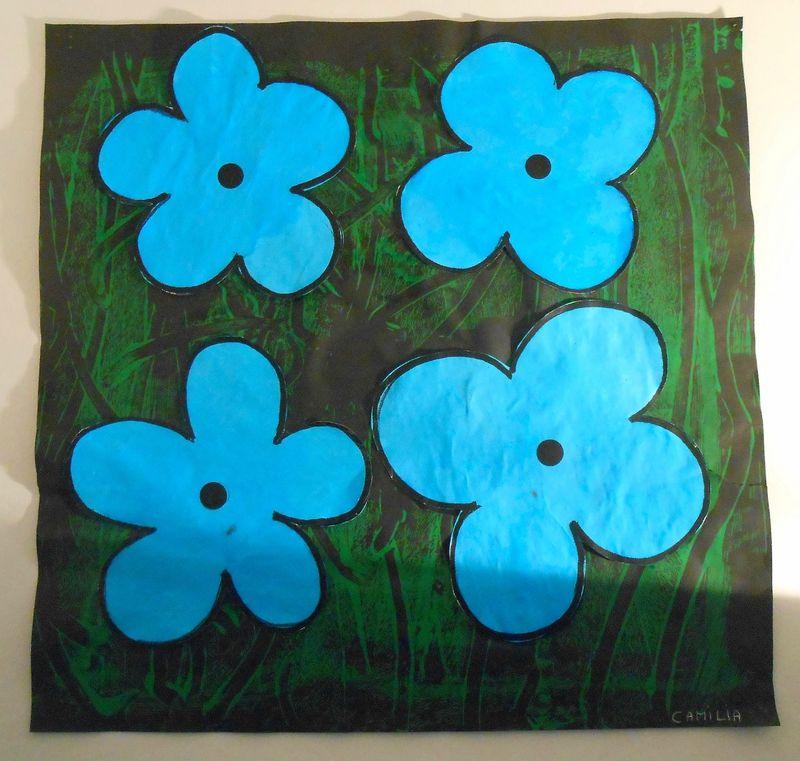 Fleurs activit peinture collage en petite section activit s manuelles pinterest - Activite manuelle fleur ...