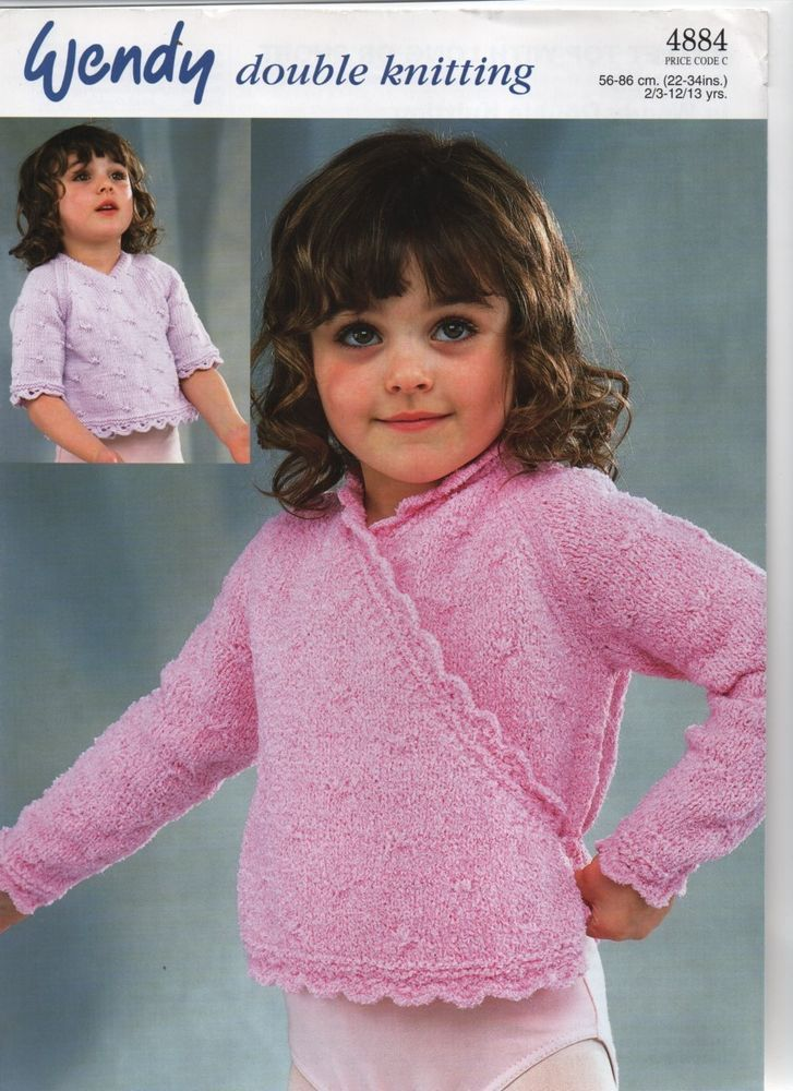 86c8d9e9b WENDY DK wrapover long and short sleeved cardigan KNITTING PATTERN ...