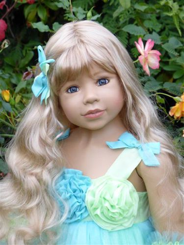 "Masterpiece Dolls * Princess and the Pea Blonde * Monika Levenig 48 "" Doll * #Masterpiece #Doll"