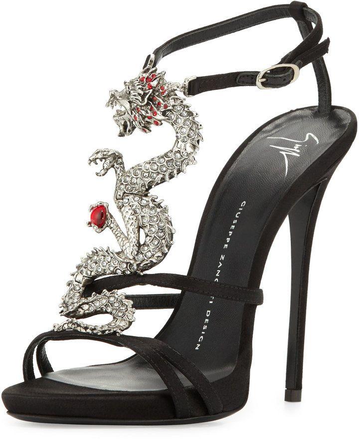 16671aa316c99f Giuseppe Zanotti Dragon Strappy High-Heel Sandal