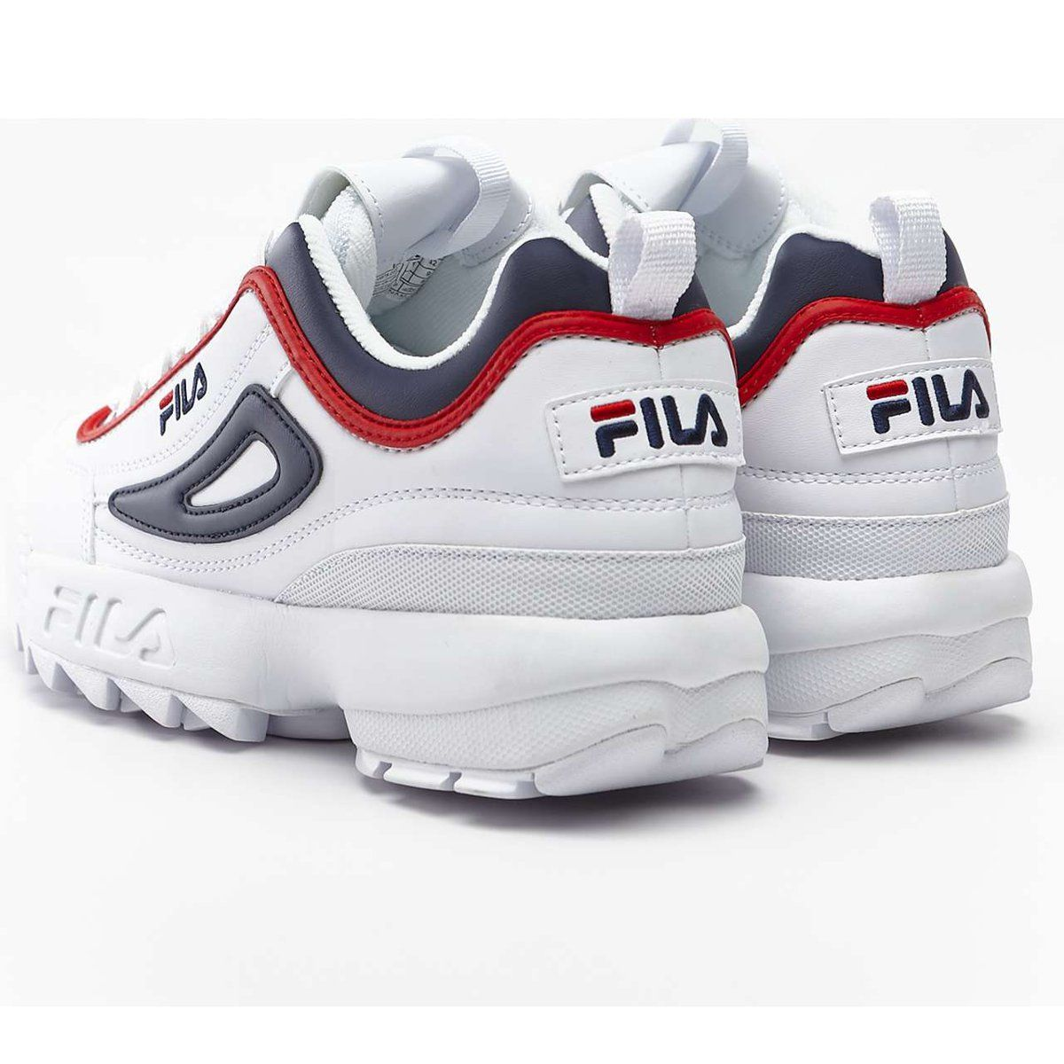 Sportowe Damskie Fila Wielokolorowe Disruptor Cb Low White Fila Navy Fila Red