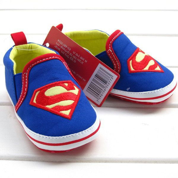Retail 1pcs baby shoes for boy girls blue S superman baby ...
