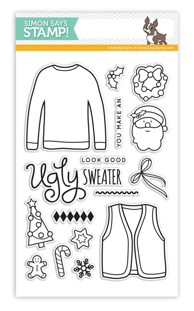 Simon Says Clear Stamps UGLY SWEATER sss101465 Cold Hands Warm Heart