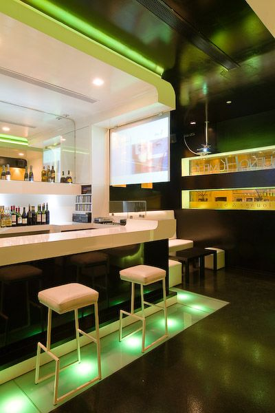 Interior Design And Decorating Idea Of Lounge Bar By Iv N Cotado With Beautiful Color