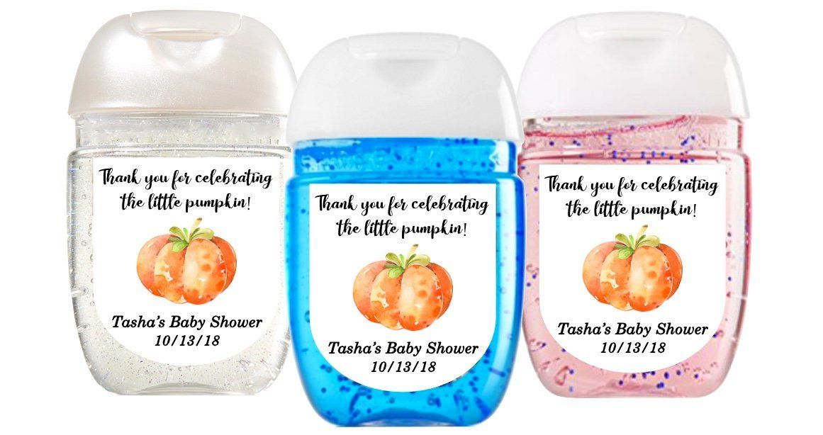 Little Pumpkin Baby Shower Favor Labels Little Pumpkin First